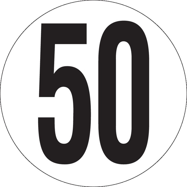 Véhicules limités à 50Km/h Ø200
