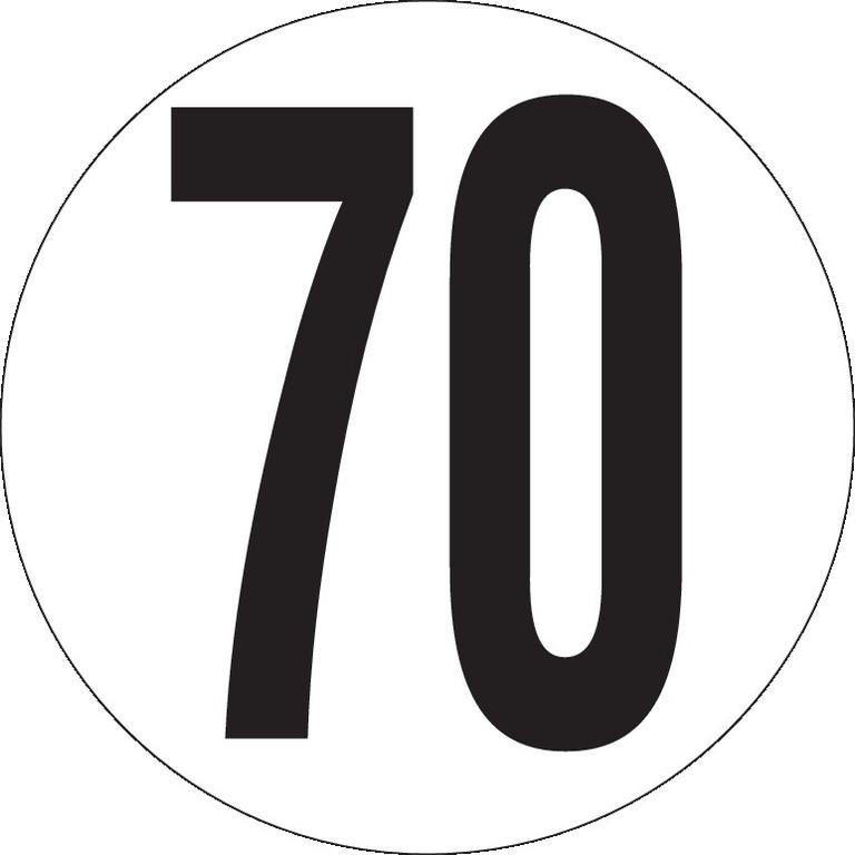 Véhicules limités à 70Km/h Ø200