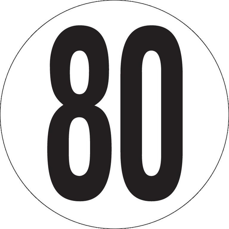Véhicules limités à 80Km/h Ø200
