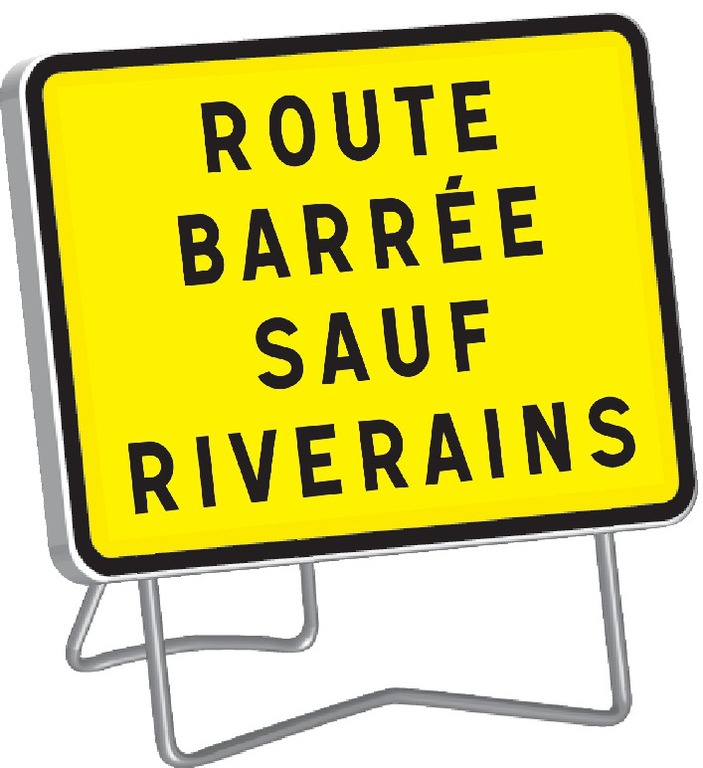 KC1 Route barrée sauf riverains