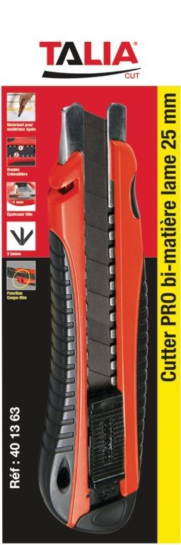 Cutter PRO bi-matière lame SK2 25 mm