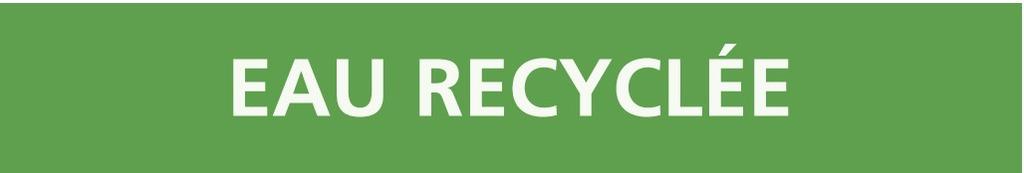 Eau recyclée