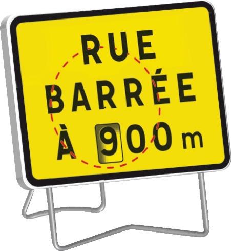 KC1 Rue barrée (disque chiffres)
