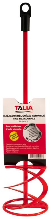 Malaxeur tige hexagonale hélicoïdal