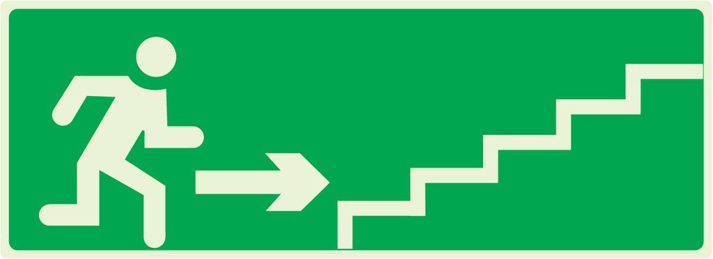 Escalier desecours montant àdroite