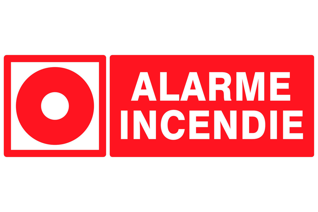 Incendie rectangle
