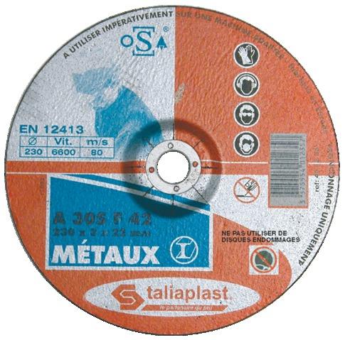 Disque abrasif métaux