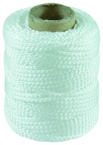 Cordeau tressé polypropylène blanc