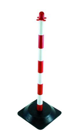 Poteau de support rouge/blanc