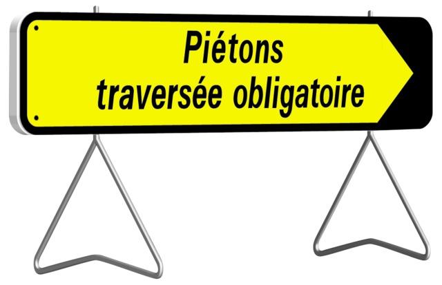 KD Piétons traversée obligatoire