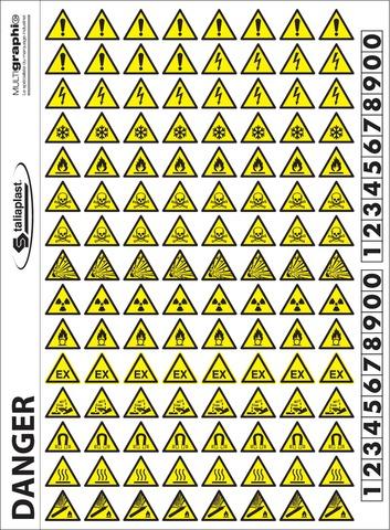 Mini-pictos Signaux d'avertissement