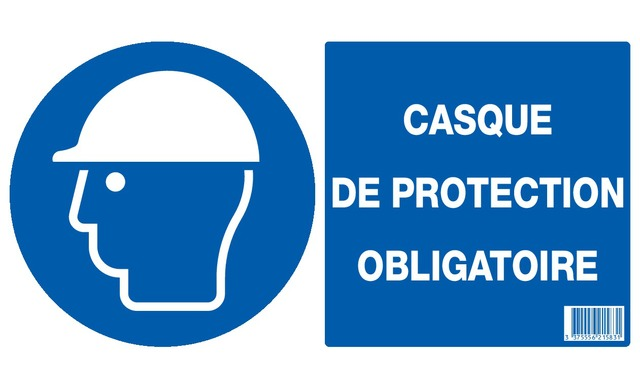 Casque de protection obligatoire