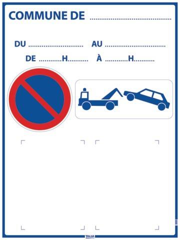 Panneau d'affichage arrêté Municipal