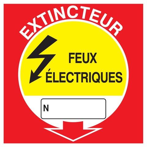 Extincteur feux électriques