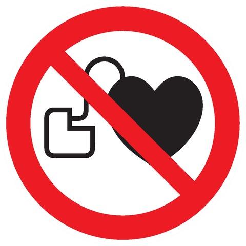Entrée interdite auxporteurs d'un stimulateur cardiaque