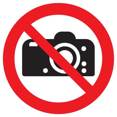 Interdiction de photographier