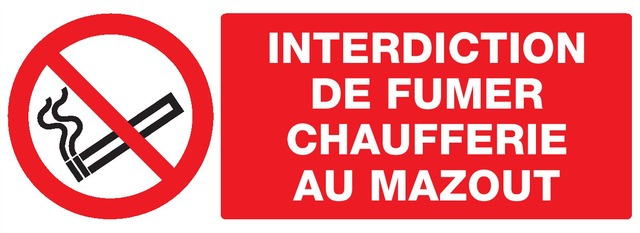 Interdiction defumer, Chaufferie aumazout