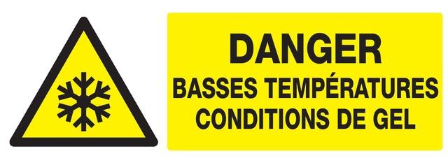 Danger basses températures, conditions degel