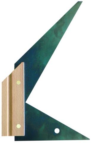 Équerre double onglet 90°, 60°, 45° talon bois