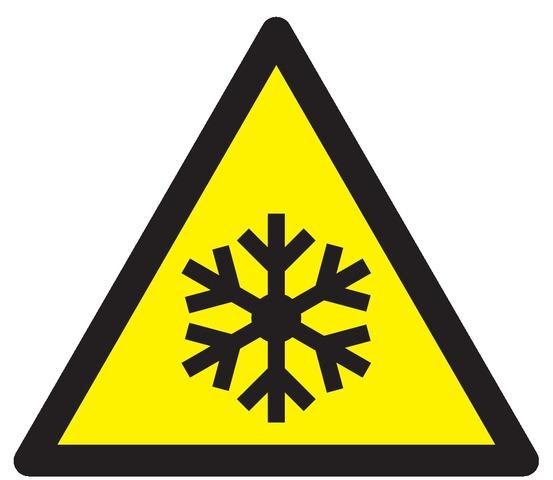 Danger, basses températures, conditions degel
