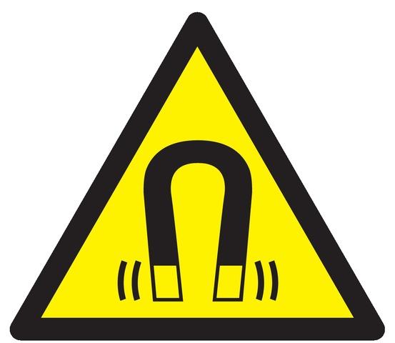 Danger, champ magnétique