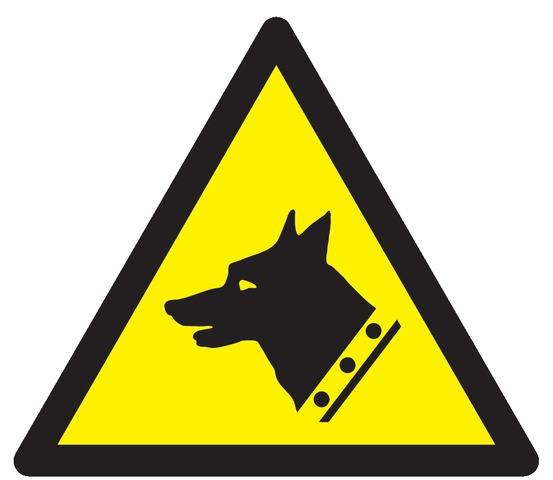 Danger, chien degarde