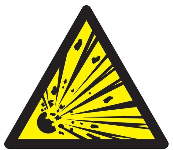 Danger, matières explosives