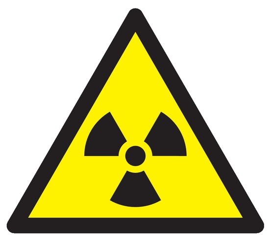 Danger, matières radioactives ouradiations ionisantes