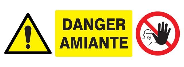 Accès formellement interdit + Danger amiante