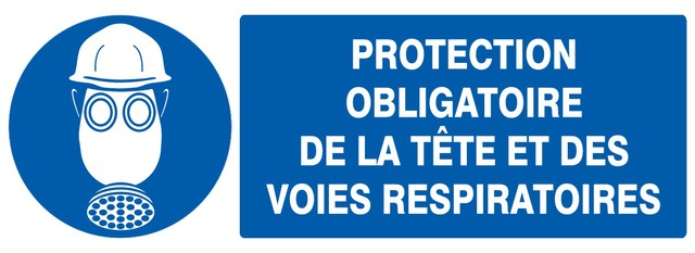 Protection obligatoire dela tête etdesvoies respiratoires