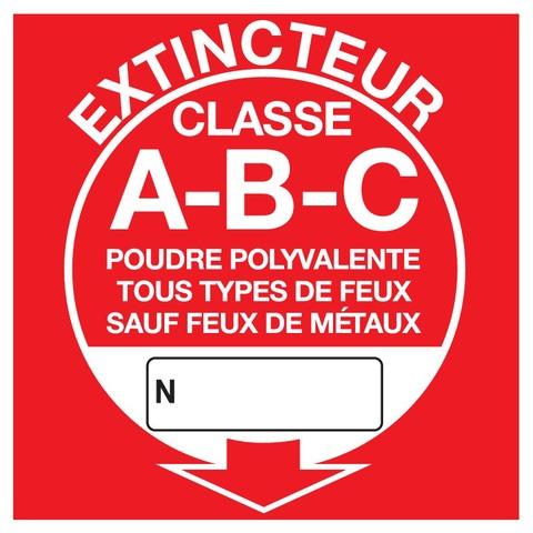 Extincteur classe A-B-C
