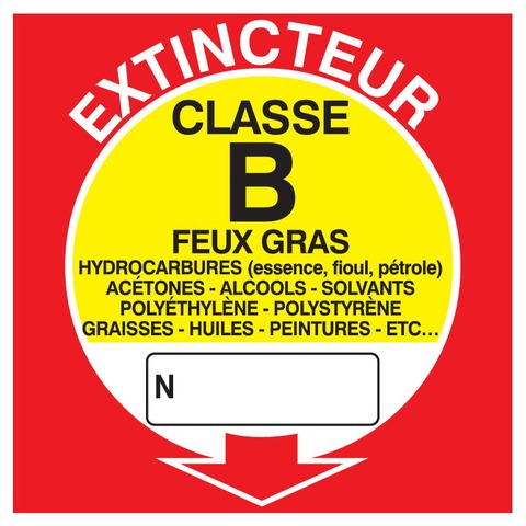 Extincteur classe B