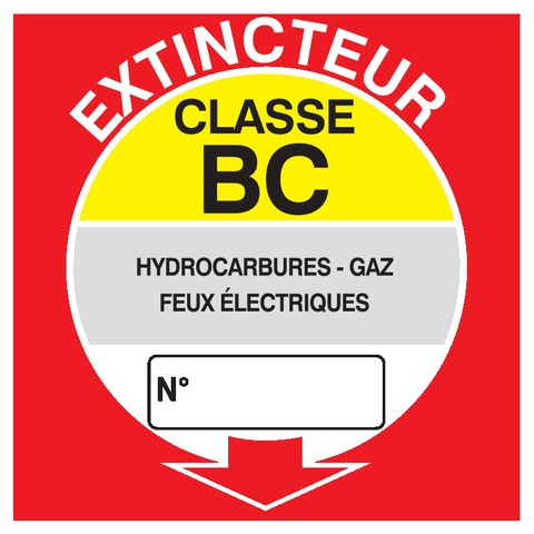 Extincteur classe BC