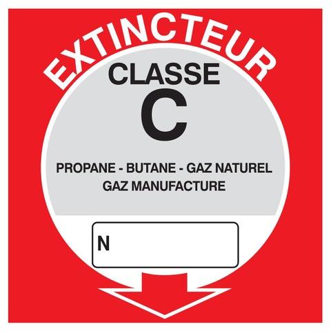 Extincteur classe C