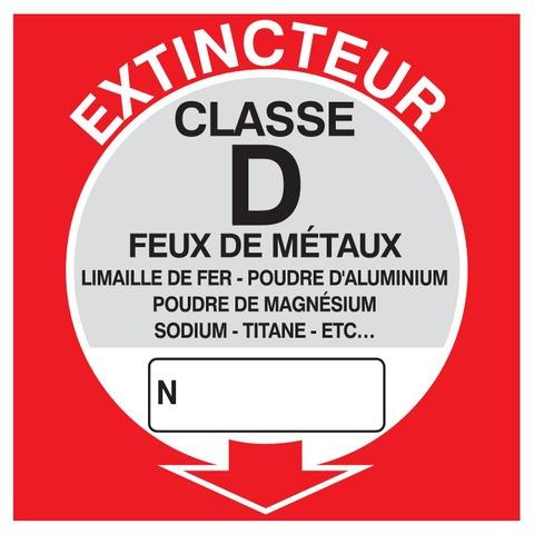 Extincteur classe D