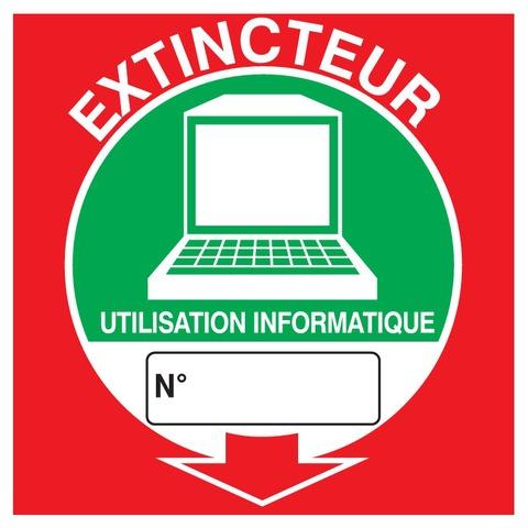 Extincteur utilisation informatique