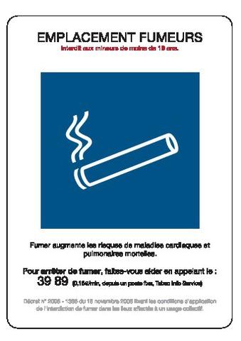 Emplacement fumeurs + Décret
