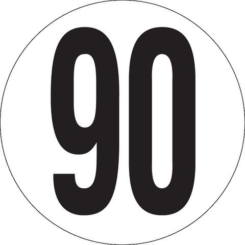 Véhicules limités à 90Km/h Ø200