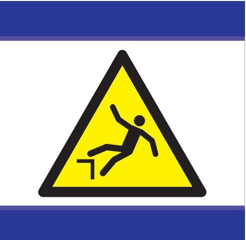 Danger chute avec dénivellation