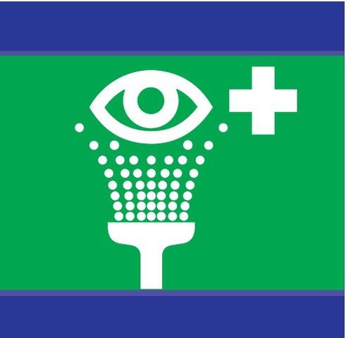 Equipement de rincage des yeux