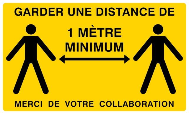 Garder une distance de 1m minimum