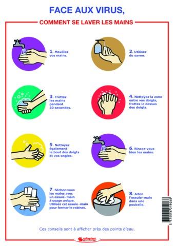 Comment se laver les mains spécial virus